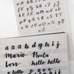 Handlettering Alphabet üben