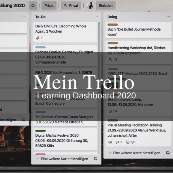Mein Trello Learning Dashboard 2020
